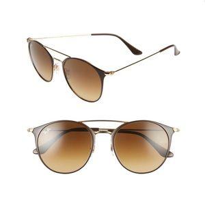 Ray-Ban Highstreet Brow Bar Sunglasses Brown